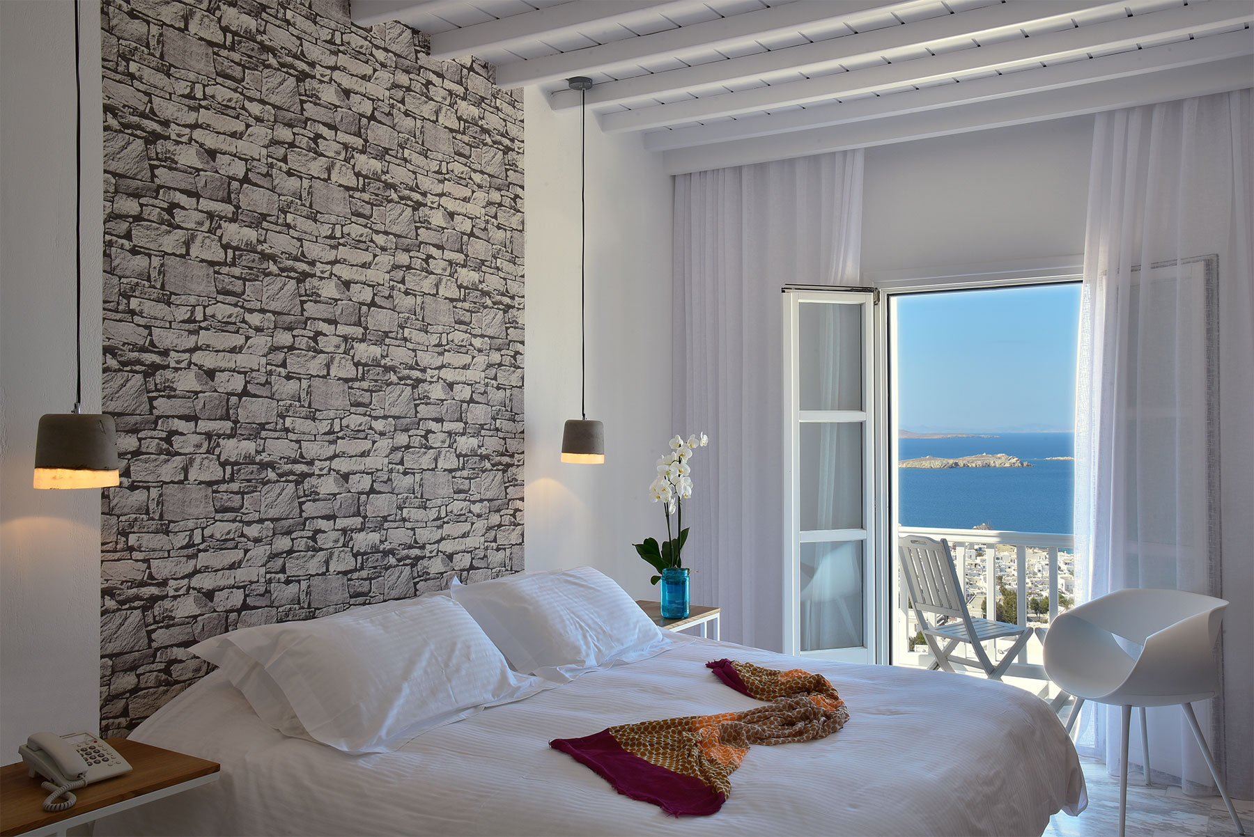 Hermes Mykonos | Deluxe Suite Sea View